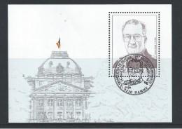 - BLOKKEN  BELGIE   GESTEMPELD  O.P.C.  NR°  75   Catw   5.50  Euro - Blocks & Sheetlets 1962-....
