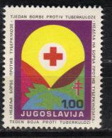 Yugoslavia,TBC 1973.,rare Surcharge,MNH - 1945-1992 Socialist Federal Republic Of Yugoslavia