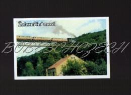 18-012 CZECH REPUBLIC Resi Hrob Klostergrab Teplice District  Railway Bridge  Train Pont Ferroviaire National Technical - Zündholzschachteletiketten