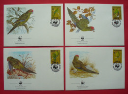 Norfolk Island 1987 - FDC - WWF , Red-fronted Parrot --- Île Norfolk --- 33 - FDC
