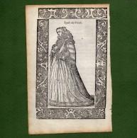 ST-IT MODE 1598 Costume Friuli SPOSE DEL FRIULI Cesare Vecellio 1598 - Estampes & Gravures