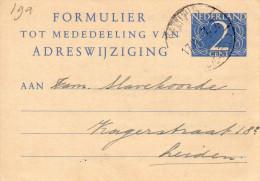 Vhk 19a Kleinformaat  Reeuwijk -  Leiden - Postal Stationery
