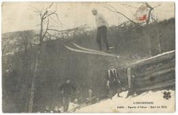 L'AUVERGNE Sports D'Hiver - Saut En Skis - Carte Postée D'Aurillac - Aurillac