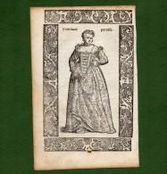 ST-IT MODE 1598 Costume Venezia VENETIANE PER CASA Cesare Vecellio 1598 - Estampes & Gravures