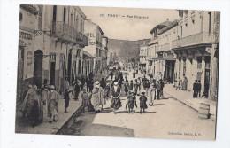 CPA ALGERIE - TIARET - Rue Bugeaud - TB PLAN CENTRE VILLAGE Avec Très Belle ANIMATION MAGASINS Dont Tabac - Tiaret