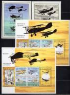 R.D.CONGO - 2001 - 4 BLOCS N° 195 à 198 -  HISTOIRE DE L'AVIATION - República Democrática Del Congo (1997 - ...)