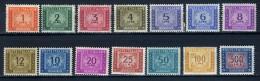 1947-54 - Italia - Italy - Segnatasse - Unif. Nr. 97/110 -  LH - (W0208...355236) - Segnatasse
