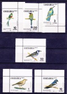COSTA RICA - 1984- VOGELS -Mi.Nrs.1212...1217 - Postfris/Neufs/No-Usados/Ungebraucht/New- ** - Costa Rica
