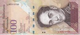 BILLETE DE VENEZUELA DE 100 BOLIVARES DEL 31 DE ENERO 2012 (BANK NOTE) PAJARO-BIRD - Venezuela