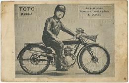 Toto Marnay Le Plus Jeune Acrobate Motocycliste Du Monde Etat Moyen - Motorbikes