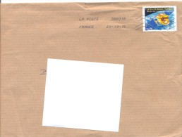 2015. France, The Letter By Ordinary Post To Moldova - France