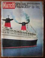 Paris Match N°663 édition Spéciale Sur Le Paquebot France (1961) - 1950 à Nos Jours