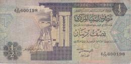BILLETE DE LIBIA DE 1/2 DINAR DEL AÑO 1991 (BANKNOTE) - Libia