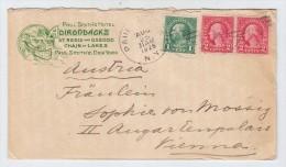 USA/Austria PAUL SMITHS HOTEL ADIRONDACKS CANOE ADVERTISING COVER 1928 - Postal History