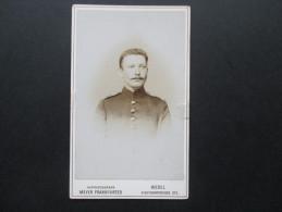 Altes Foto (original) Ca. Jahrhundertwende Eventl. älter!? Soldat. Fotograf: Meyer Frankfurter Wesel - Fotos