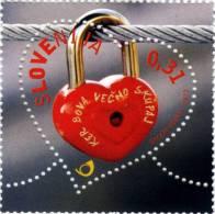 Slovenia Slovenie Slowenien 2013 NEW: Valentine's Day Love Stamp In A Shape Of Heart; MNH - Slovenia
