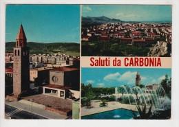 ^ SALUTI DA CARBONIA VEDUTE PANORAMA  314 - Carbonia