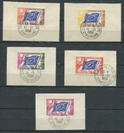 France 1958/59 - Service - N° 17 à 21 - Conseil De L´Europe - Drapeau Du Conseil  - Oblitérés * - Servicio