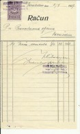 CROATIA, VARAZDIN   -  FACTURE  INVOICE  --  VERGLES & PRANDELL  --  1929  --   TIMBRE FISCAL, TAX STAMP - Facturas & Documentos Mercantiles