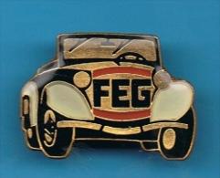 1 PIN´S //  ** F. E. G. ** MOTORWAGEN ** FRIEDRICH ** ERDMAN ** GERA R. ** - Badges