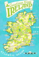 Irlanda--Greetings From Ireland----A. Laval, Francia - Mapas