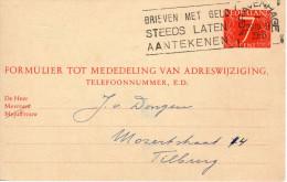 Vhk  30 Den Haag - Tilburg - Ganzsachen