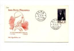 Fa244 - ITALIA FDC 1963 : PICO DELLA MIRANDOLA A.f. ROMA - FDC