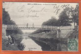 Carte Postale 10. Méry-sur-Seine  Pêcheurs Au Pied De La Passerelle    Trés Beau Plan - France