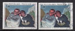 1966-Variété Tp N°1494-Crespin Et Scapin De Daumier--Teint Blafard Sur 1er+normal Foncé - Varieties: 1960-69 Used