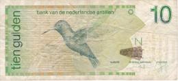 BILLETE DE NEDERLANDSE ANTILLEN DE 10 GULDEN  DEL AÑO 2006  (BANKNOTE) BIRD-PAJARO-COLIBRI - Antillas Neerlandesas (...-1986)