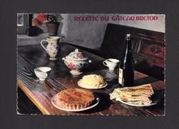 RECETTES - GASTRONOMIE BRETONNE - RECETTE DU GÂTEAU BRETON - BEAUX TIMBRES ET OBLITÉRATION - ÉDITIONS D'ART JOS L. DOARÉ - Recettes (cuisine)