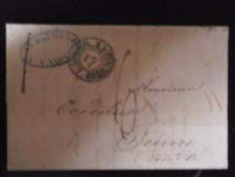 Trés Belle Lettre De 1828  De Lyon  Pour Seurre - 1801-1848: Precursors XIX