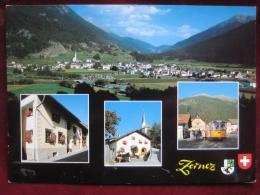 Zernez (GR) - Mehrbildkarte / Autobus - GR Graubünden