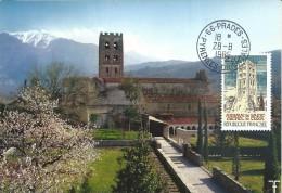 2351 - ABBAYE DE SAINT-MICHEL DE CUXA - Oblitération 66- PRADES - Maximum Cards