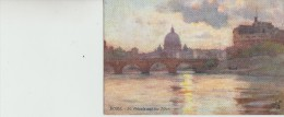 "Alberto  Pisa                         Rome  - St.  Peter,s  And  The  Tiber.      ""oilette"" - Ohne Zuordnung"