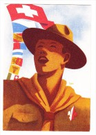 Schweizer Pfadfinder Bundeslager AK 17.6.1938 Zürich Wollishoffen Nach Schwendi AI - Scouting