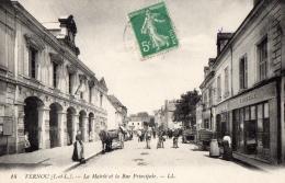 37 INDRE ET LOIRE - VERNOU La Mairie Et La Rue Principale - Autres Communes