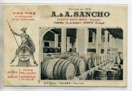 ESPAGNE EL PUERTO DE SANTA MARIA Vins Fins A-A SANCHO  D'espagne Et Portugal  Chai VALDES Vins Fins Num 7  /D04-2016 - Unclassified