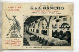 ESPAGNE EL PUERTO DE SANTA MARIA Vins Fins A-A SANCHO  D'espagne Et Portugal  Chai  SANTA LUCIA Grands V Num 6 /D04-2016 - Unclassified