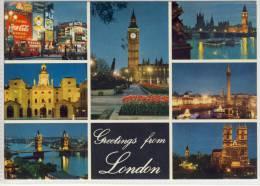 LONDON - Greetings , Multi View , A John Hinde Card - Otros