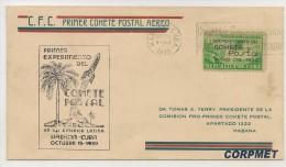 CUBA - 1939 Experimental Postal Rocket Flight - First Day Of Issue Cacheted COVER - Ex NICOLAS SOCORRO GUERRA - Posta Aerea
