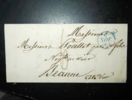 Trés Belle Lette De 1828  Avec Marque Postale  Pour Bordeaux - 1801-1848: Précurseurs XIX