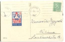 CHRISTMAS STAMP Santa Claus Anti-Tuberculosis 1954 On Postcard - Finnland