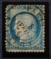 CERES.n°60A. . Obl.PARIS Rue Taitbout 8 Avril 1876. - 1871-1875 Cérès
