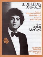 1979 - RARE ET BELLE PARTITION ENRICO MACIAS/PIERRE DELANOE - LE DEFILE DES ANIMAUX - EXCELLENT ETAT - COMME NEUF - - Otros