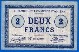 BON - BILLET - MONNAIE - 1915 DEUX FRANCS CHAMBRE DE COMMERCE D'AMIENS DOULLENS MONTDIDIER SOMME 80000 N° 241221 - Handelskammer