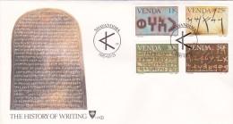 Venda 1985 The History Of Writing FDC - Venda