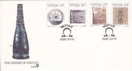 Venda 1986 The History Of Writing FDC - Venda