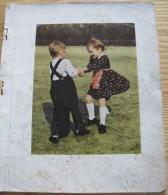 Pages X 12 D Un Ancien Livre D Enfant Illustré = Texte En Allemand Années 1940 +6 Feuillets Individuels - Livres Pour Enfants