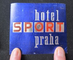 HOTEL MOTEL PENSION SPORT PRAGA PRAHA PRAGUE CSSR CZECH CHEKOSLOVAKIA LUGGAGE LABEL ETIQUETTE AUFKLEBER DECAL STICKER - Hotel Labels